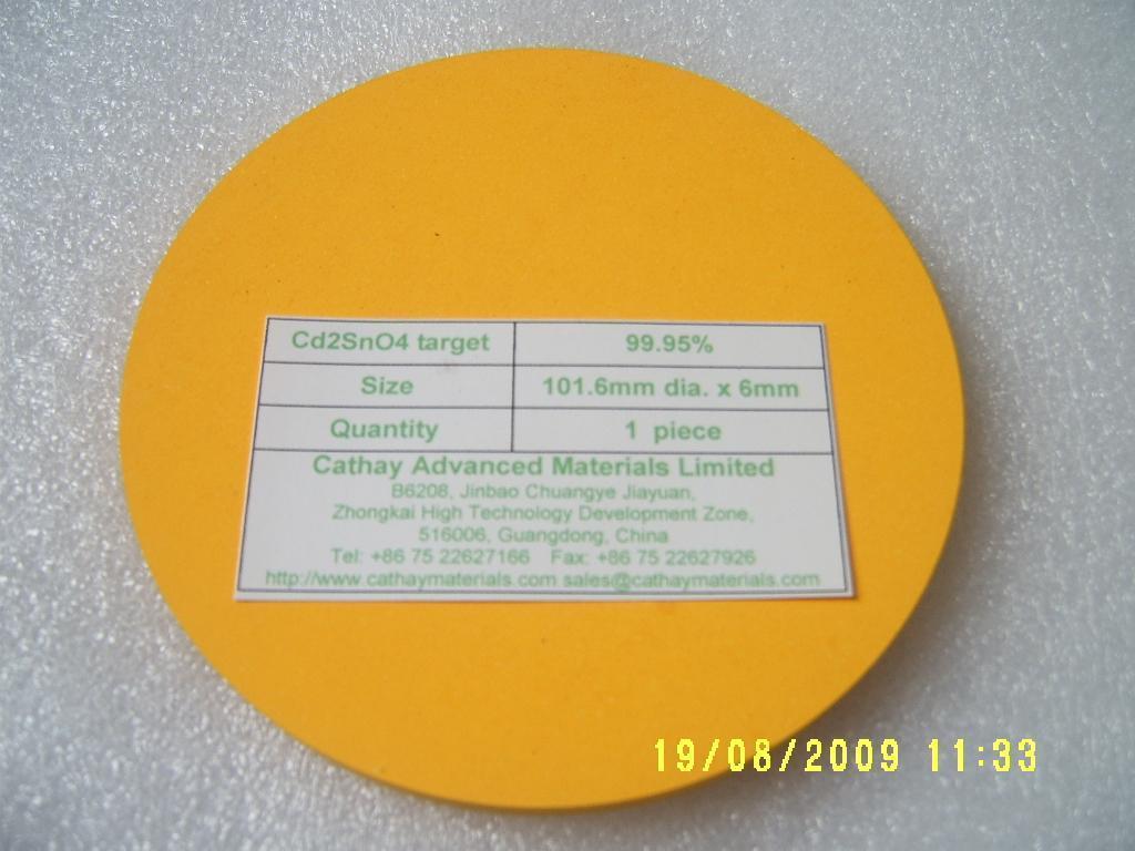 Cadmium Stannate Cd2SnO4 target