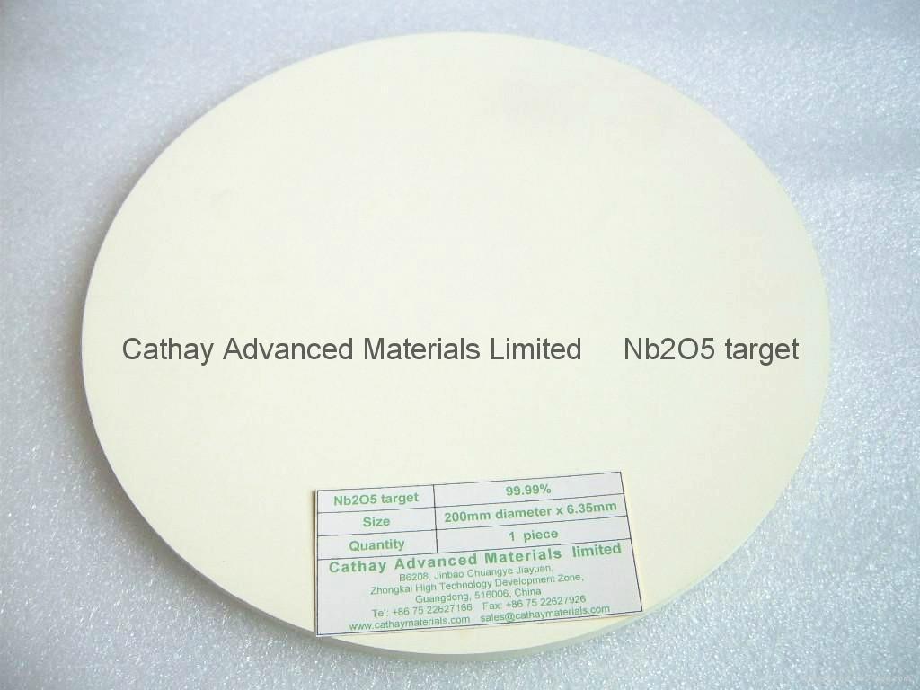 Niobium Oxide Nb2O5 target