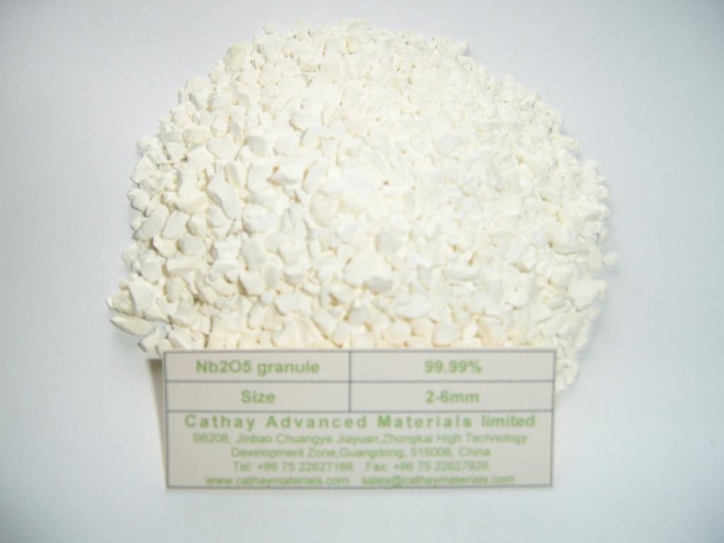 Niobium Pentoxide Nb2O5 granules 1