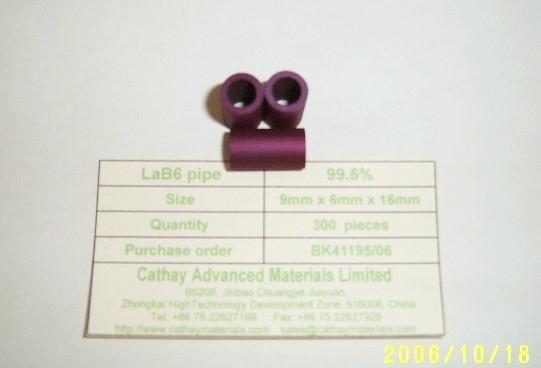 LaB6 pipe