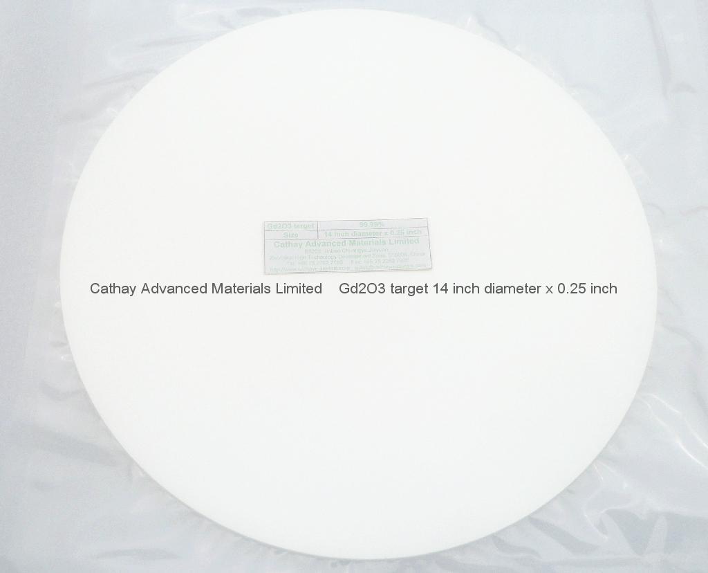 Gadolinium Oxide Gd2O3 target