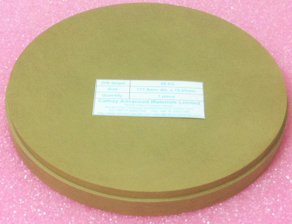Zirconium Nitride ZrN target 1