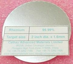 Rhenium Re & Iridium Ir target