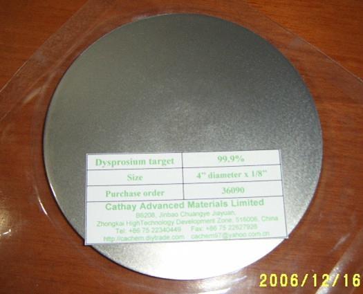 Dysprosium Dy target 1