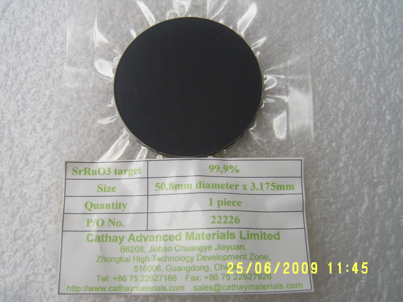 Strontium Ruthenate SrRuO3 target 1