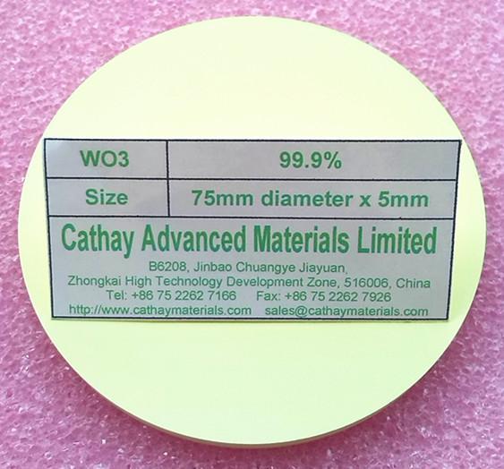 Tungsten Oxide WO3 target
