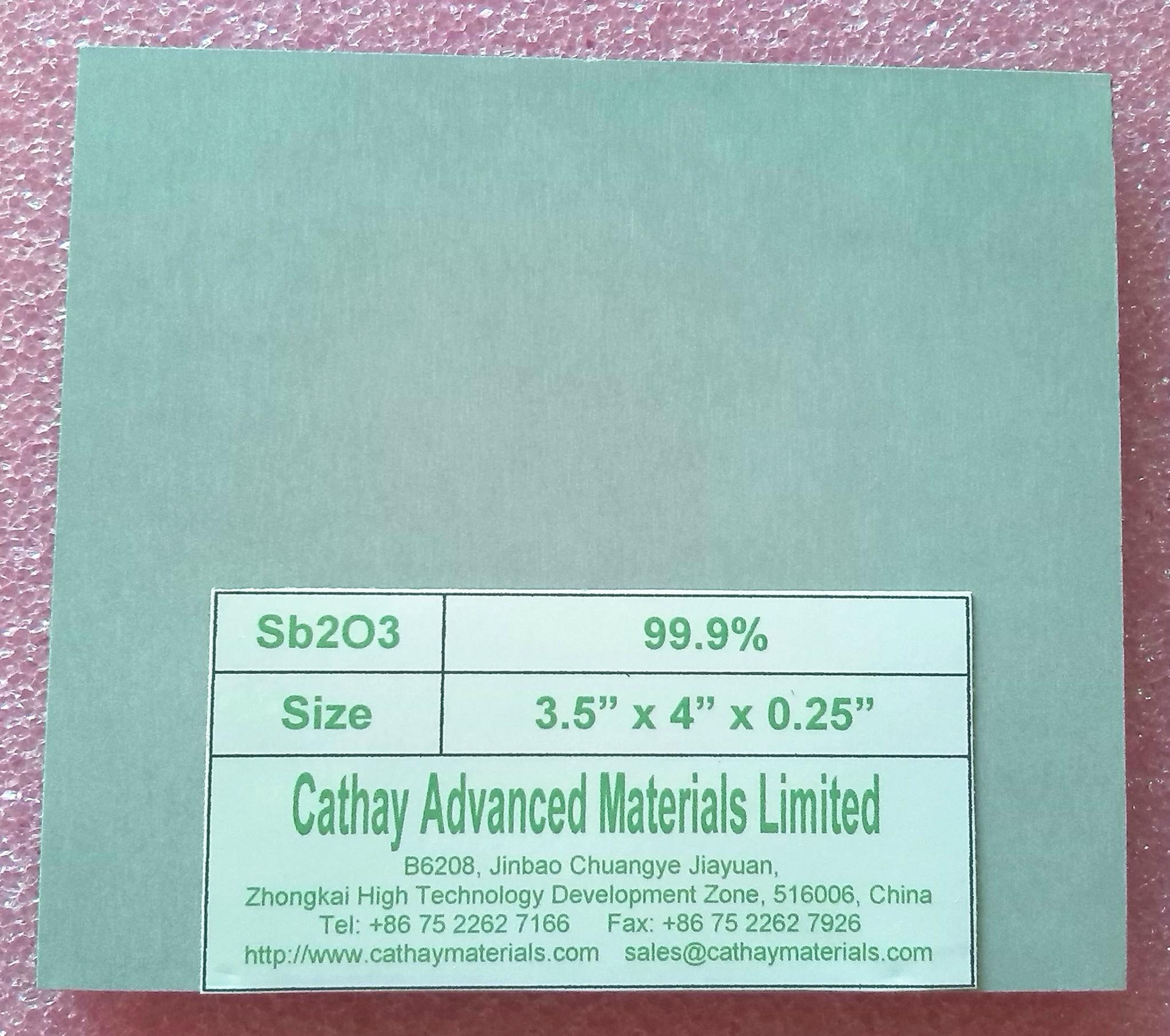 Antimony Trioxide Sb2O3 target