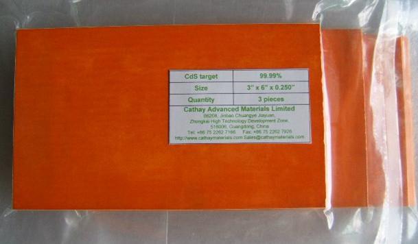 Cadmium Sulphide CdS target 1
