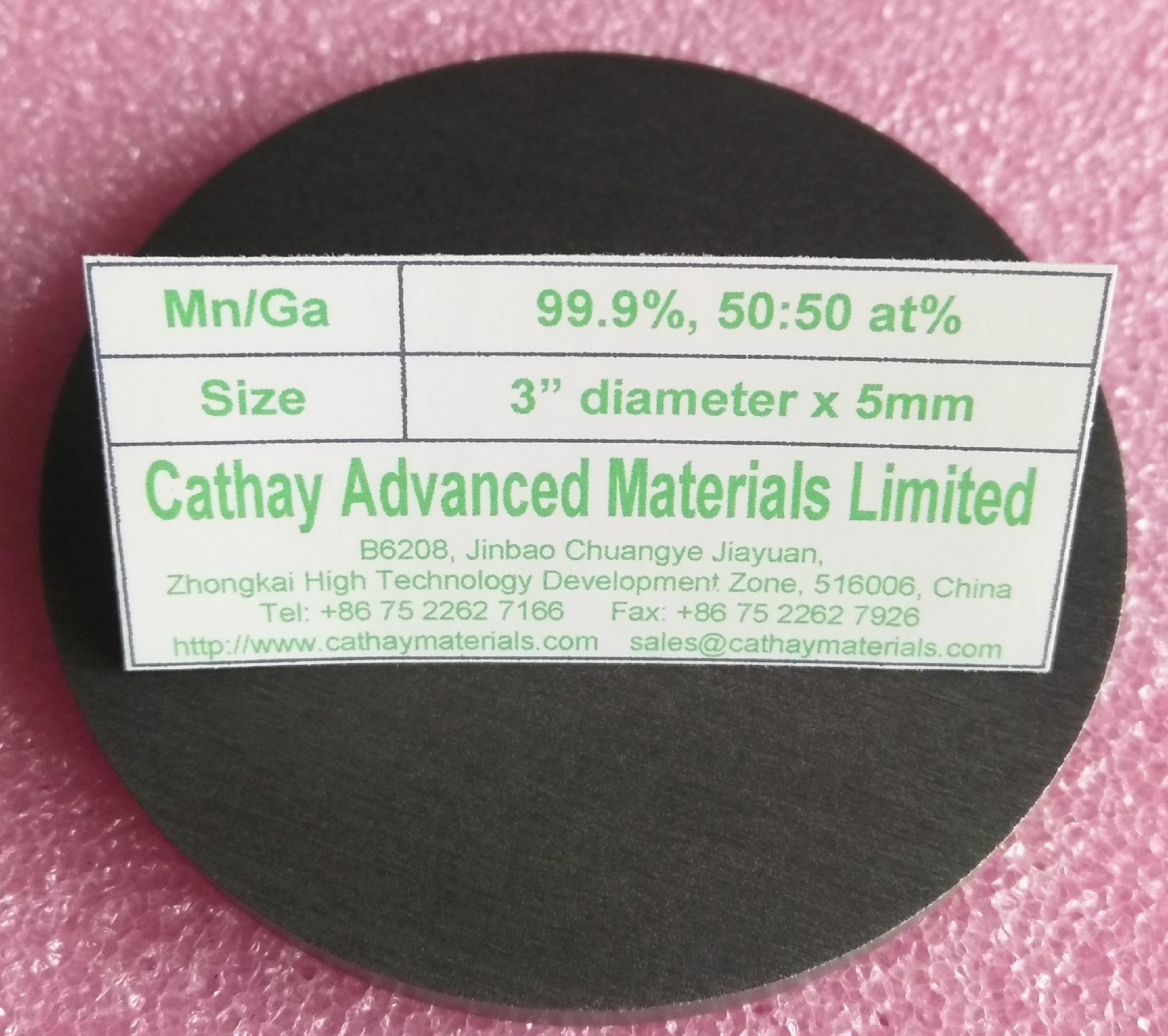 manganese gallium alloy target