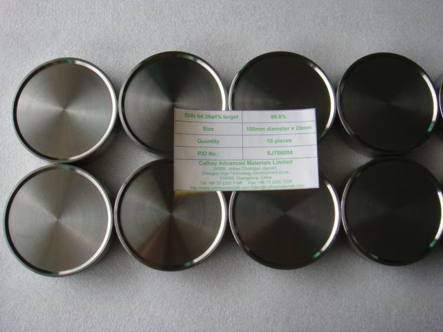 Titanium / Aluminum Ti/Al alloy target 1