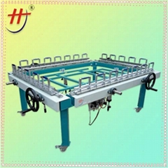 Pneumatic screen printing stretching machine,screen printer stretching machine
