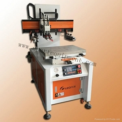 Economical electric flat sidle screen printer machine