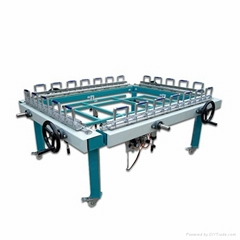 Precision double clamp mesh automatic stretching machine