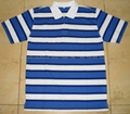 Yarn-Dyed Stripe Pique Polo-shirt