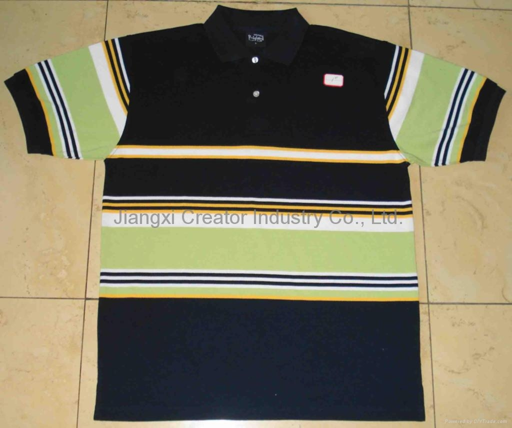 83f510de9 Yarn-dyed Stripe Pique Polo - Jiangxi Knitwear Garments Factory