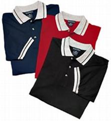 Stripe Pique Polo-shirt