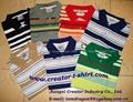 Yarn-Dyed Engeer Stripe Pique Polo Shirt