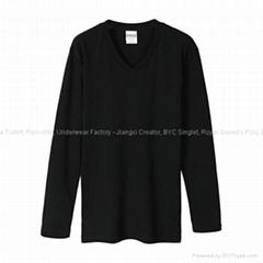 Long Sleeve V-neck T-shi