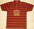 100% Cotton Engineer Stripe Jersey Polo Shirt