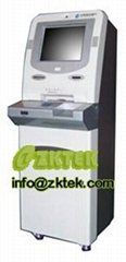 A2 Touchscreen payment kiosk for bank management system with Mifare card reader