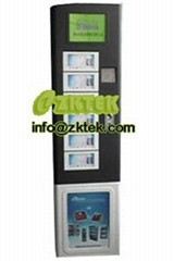 U21 recharge kiosk with display LCD, metal keypad and coin acceptor.
