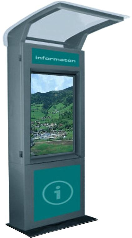 w3 stainless steel waterproof outdoor touchscreen information kiosk with infrare zktek china. Black Bedroom Furniture Sets. Home Design Ideas