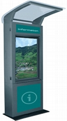 W3 stainless steel waterproof outdoor touchscreen information kiosk with infrare