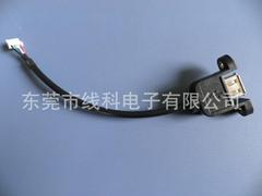 厂家直销USB带螺丝固定数据线