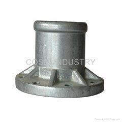 flange fitting for ceramic insulator