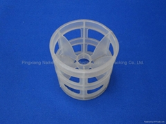 Plastic pall ring for filtering waste