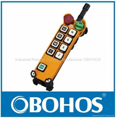 Hoist Industrial Wireless Remote Control Pendant 8 function buttons