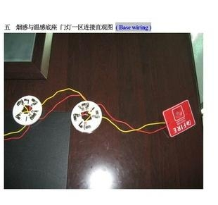 Wire Conventional smoke detector to alarm panel