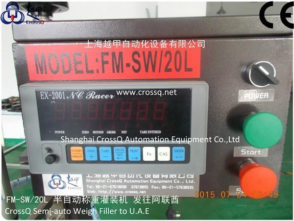 corn oil semi-auto Weighing Filling Machine FM-SW-20l 6