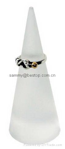 有机玻璃锥形戒指座(珠宝首饰展道具 ) 4