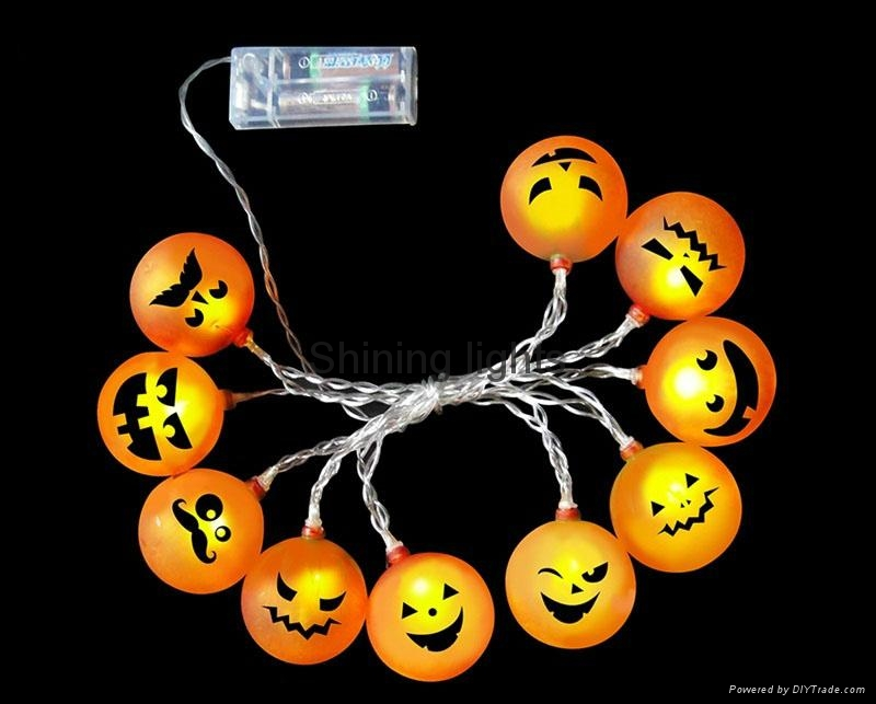 LED light with Halloween decoration by battery operated lighting  3