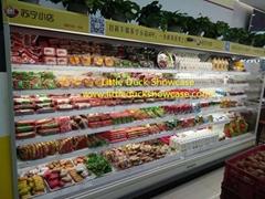 Supermarket Drink Refrigerator Display Case