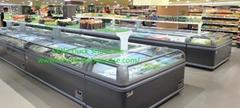 Supermarket Retail Direct Cooling Deep Island Freezer