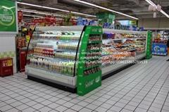 E7 ORLANDO Supermarket Semi Vertical Display Refrigerator