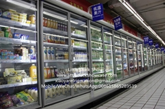 Supermarket Glass Door Refrigerated Display Cabinet