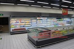 Supermarket Glass Door Island Freezer