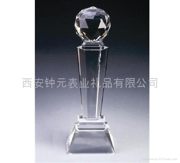 西安水晶奖杯厂家订做制作 1