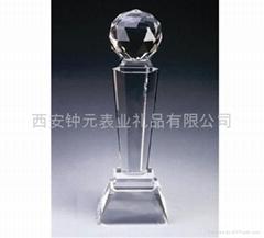 西安水晶奖杯厂家订做制作