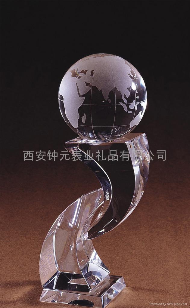 西安水晶奖杯厂家订做制作 2
