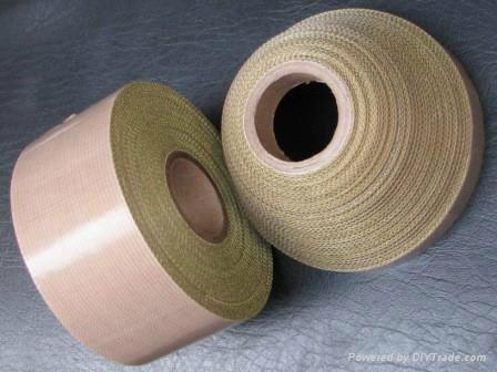 PTFE  coated fiberglass fabric adhesive tape 1