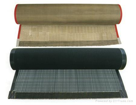 PTFE  Coated Mesh Fabric Conveyer Belt  1
