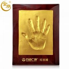 金朔手模手印泥個性商務活動簽到創意慶典儀式道具優質烤漆框禮物