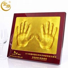 商务礼品定制双人手印泥合作签约仪式庆典