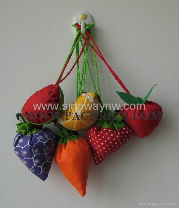 Best selling varoius fruit polyester foldable bags 1