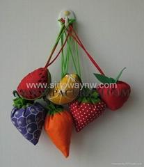 Best selling varoius fruit polyester foldable bags
