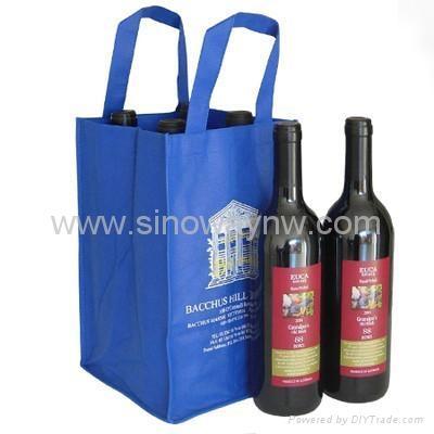 Non-woven wine bottle bag